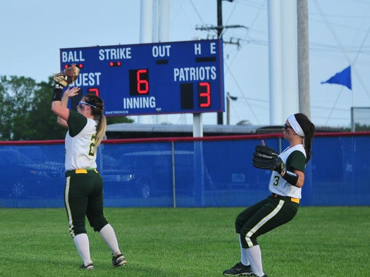 Northeastern defeated Knightstown 5-4 in the IHSAA Class 2A Sectional 41 softball championship game Friday, May 26, 2017 at Union County High School.