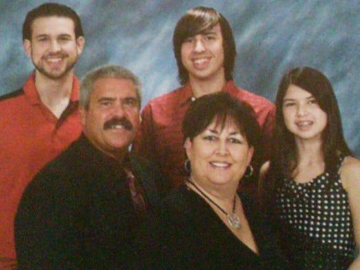 The Dooley family: Cameron, Todd, Landon, Lori, and