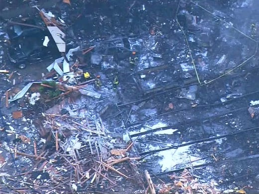 An explosion destroyed a home in Port Orchard, Wash.,