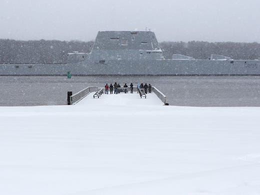 The USS Zumwalt, the Navy's new guided missile destroyer,