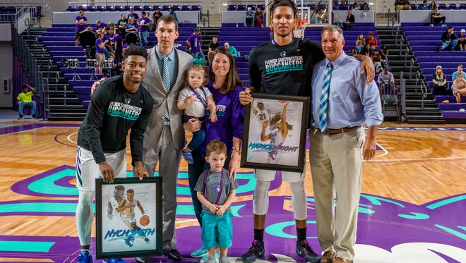 Former FSW athletic director Carl  McAloose during 2017's Sophomore Night. McAloose was demoted in August for allegedly making disparaging remarks about FSW President Jim Albritten to a member of the Board of Trustees. McAloose denies that that happened.