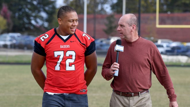 """Greenville senior offensive lineman Cameron Thomason is featured in this week's edition of """"100 Yards with Bob Castello."""""""
