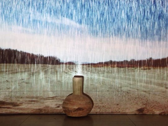 Brenda Perry's installation uses video, photography