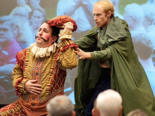 Matt Wallace, the executive director of Kentucky Shakespeare, left, performs at the 2017 Fund for the Arts Showcase & Campaign Kickoff.10 January 201710 January 2017