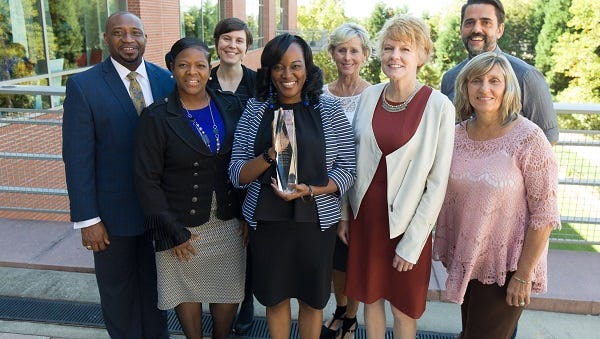 The Teacher Cadet Program at the Center for Educator Recruitment, Retention, & Advancement based in Rock Hill won the 2015 Dick and Tunky Riley WhatWorksSC Award for Excellence.