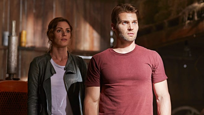 """Daisy Betts and Mike Vogel play a married couple whose lives are turned  upside down by a seemingly benevolent alien invasion in """"Childhood's End."""""""