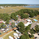 A large crowd attended the sold-out 2011 Chincoteague Oyster Festival held at Maddox Family Campground on Chincoteague. The campground was sold recently to Bluewater Development Corporation of Berlin, Maryland.