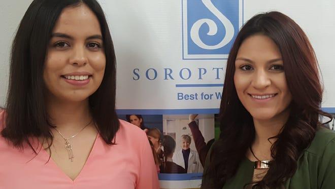 Award winners Agni Guerrero, left, and Mariana Lucero