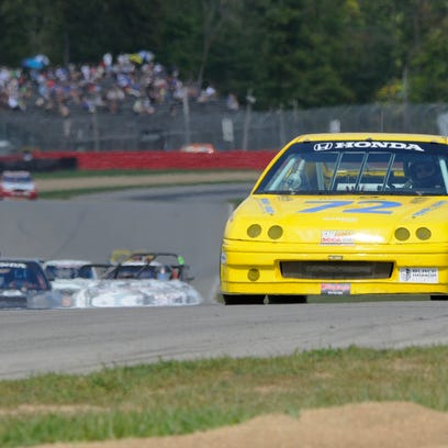 Florida driver Peter Shadowen leads the pack in Saturday's