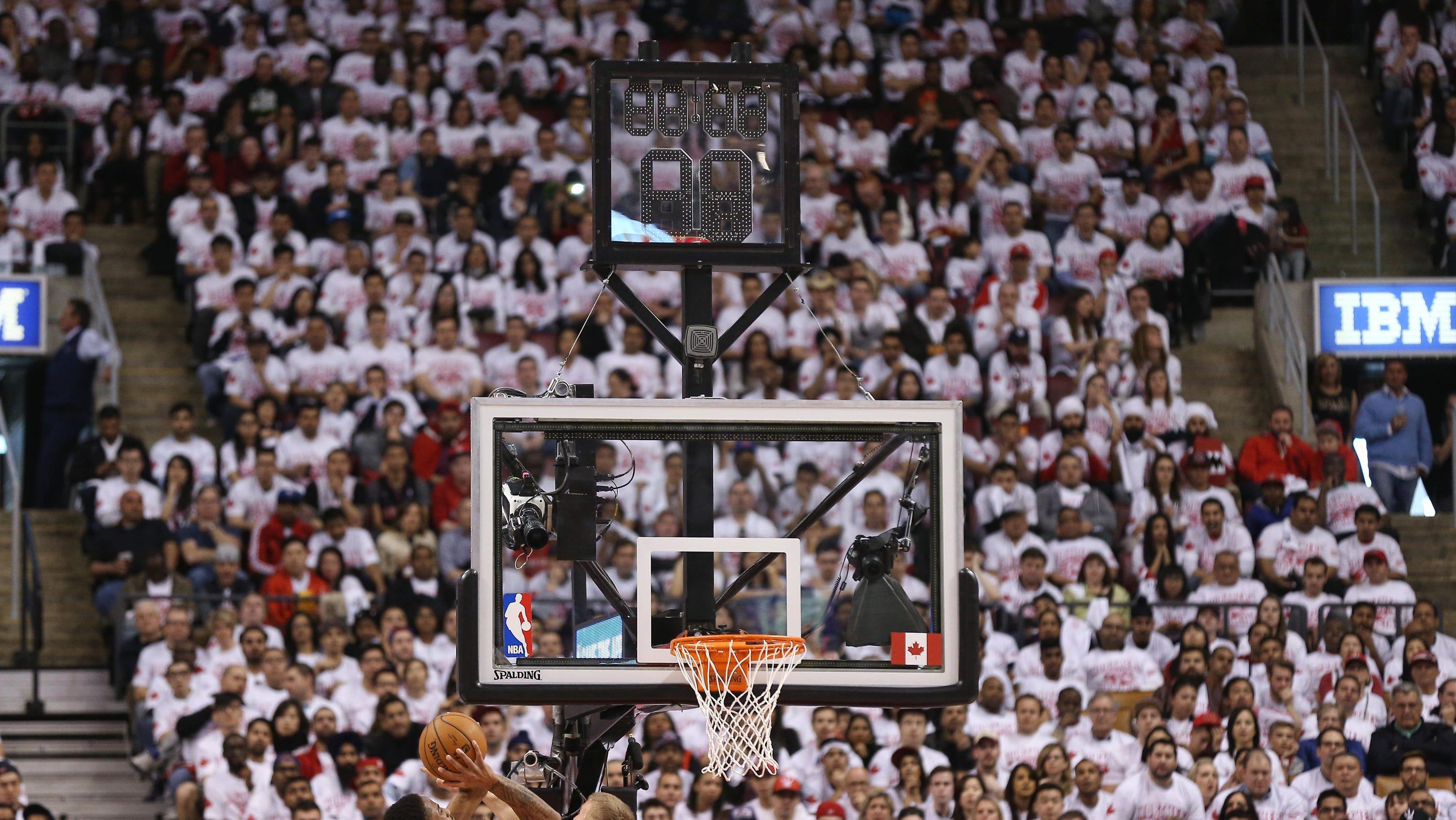 ESPN caused shot clock malfunction in Raptors-Nets