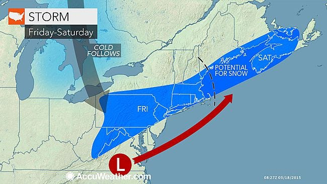 AccuWeather meteorologist Tom Kines says we're in for another bout of snow Friday.