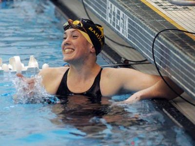Senior Emma Bradley was the Division 2 state runner-up in the 500-yard freestyle.