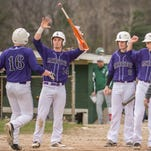 Lakeview players celebrate a grand slam earlier this season.