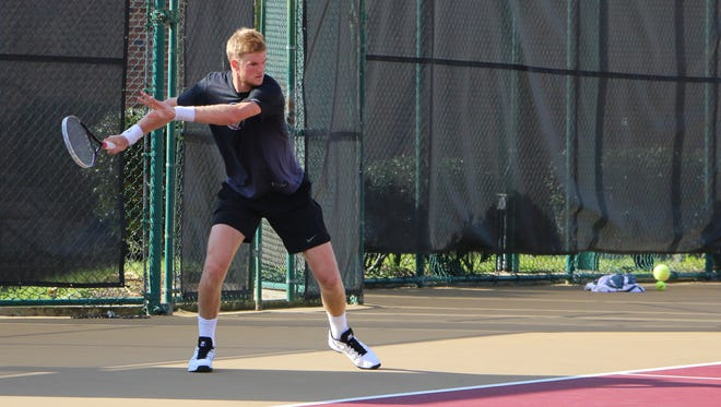 Ben Locke is FSU's top player and ranked No. 15 overall in the country for singles.