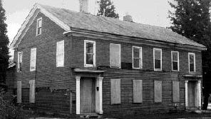 The Stedman Millhouse, 518 Water Street, Sheboygan Falls, just prior to its rehabilitation. Built in 1837, it is considered the oldest building in the county.