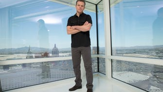 Matt Damon poses for a portrait at the Aria Sky Suites in Las Vegas while promoting his new movie 'Jason Bourne.'