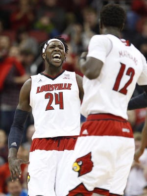 Montrezl Harrell roars as U of L rallies in the second half, opening on a run to lead Clemson.