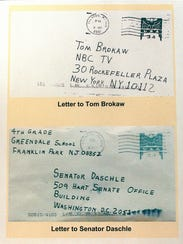 Letters were sent in 2001 to NBC in New York and to