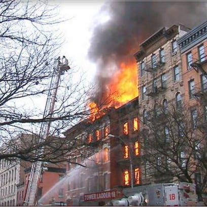 Explosion, huge fire, in NYC's East Village