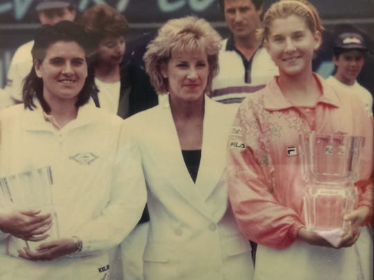 Chris Evert (center) lends her name - and adds credibility