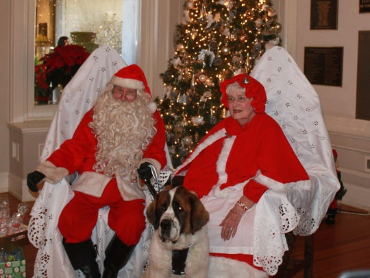 Santa and Mrs. Claus with Shorty.