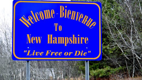 No state has a lower homicide rate than New Hampshire.