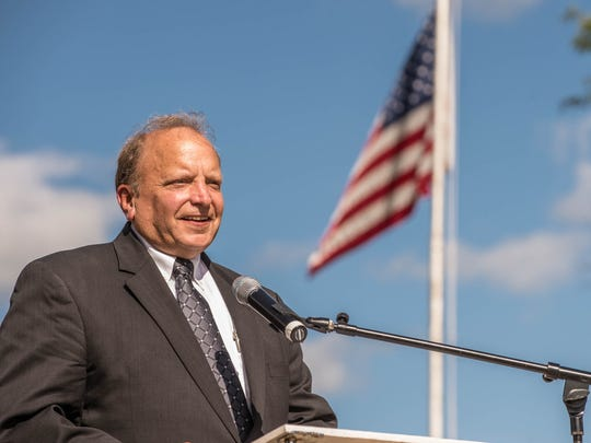 Dr. John Bizon, 62nd State Representive speaks during the 911 Remembrance ceremony in 2016.