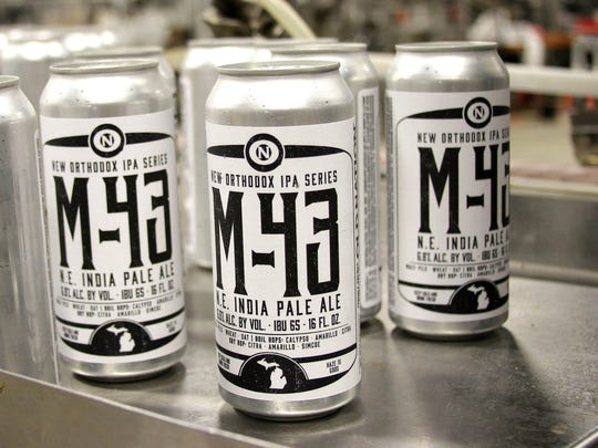 M-43 N.E. India Pale Ale, part of the New Orthodox IPA Series from Old Nation Brewing Co. in Williamston.