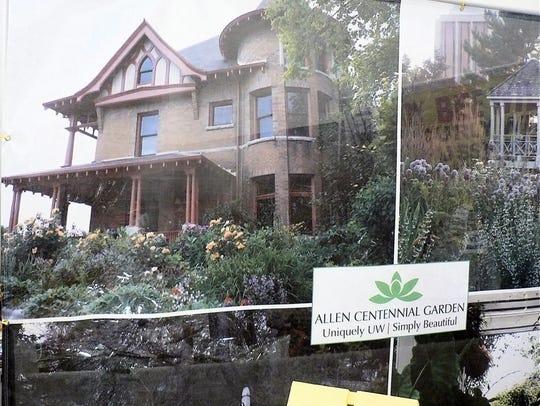 The Allen Centennial Gardens surround the former UW-Madison