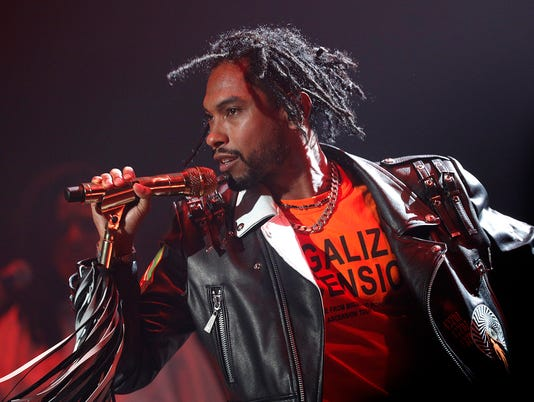 Miguel rocks at Old National Centre