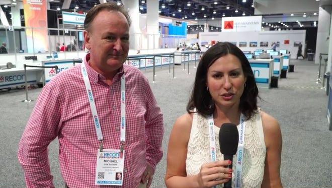 Jodi Schwan with Mike Van Buskirk at RECON.