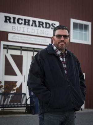 Mike Richards, manager of the Sussex County Fairgrounds, is seen outside of the Richards Building, named for his grandfather, Walter Richards, in November 2019. Richards received approval from the Frankford Township Committee Tuesday night to organize various events in the next few months to make up some revenue lost due to the COVID-19 pandemic.