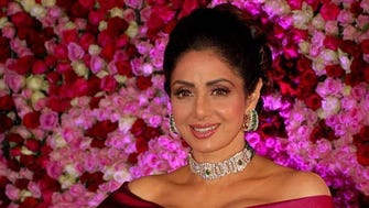 Bollywood actress Sridevi Kapoor posing on Dec. 10, 2017, during a promotional event in Mumbai.