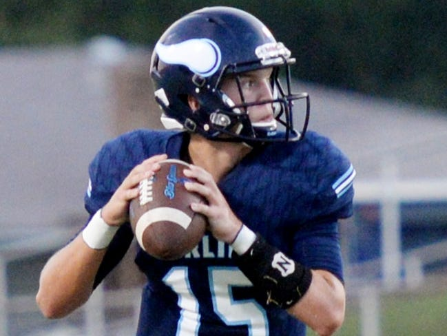 Airline's Brad Fream threw four second half touchdown passes in the Vikings 35-17 win vs. Haughton.