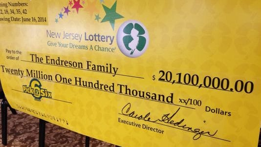 The check for the winning lottery ticket.