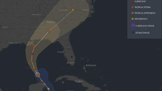 Interactive storm tracker.