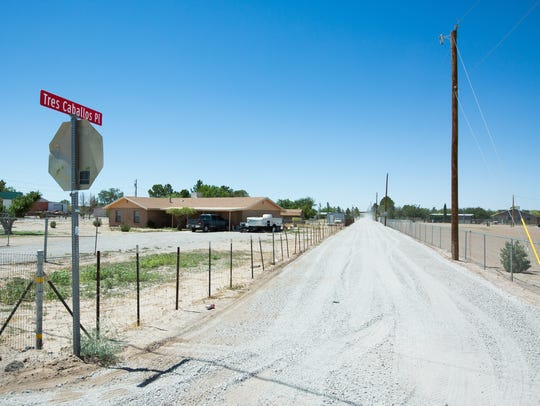 Residents who live on Tres Caballos in Mesquite recently
