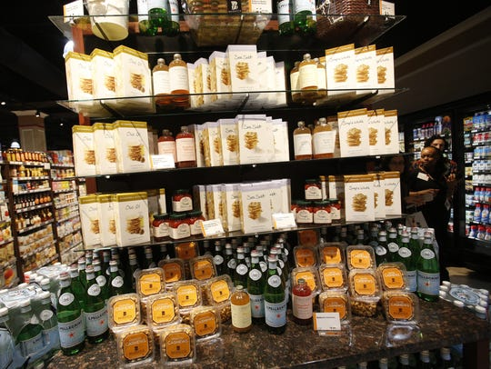 A display of food at Balducci's in Rye Brook.
