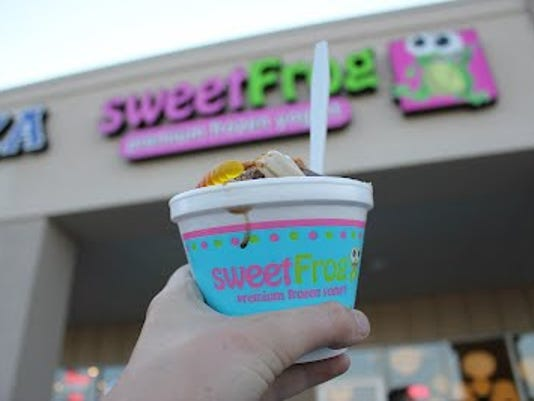 Sweet Frog offers 14 flavors and 60 toppings at their new location in York Township. (Photo by Erin O'Neiil)