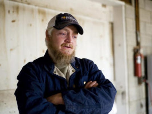 Beau Ramsburg talks about some of the plans for his poultry processing facility in March 2014. (File - The Evening Sun)