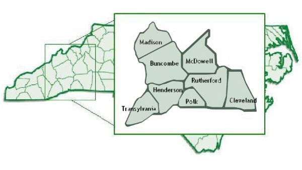 Mountain Valleys Resource, Conservation and Development is an environmental protection group that deals with conservation, development and enhancement of their jurisdiction's natural resources. MVRC&D covers eight WNC counties, from Madison to Cleveland.