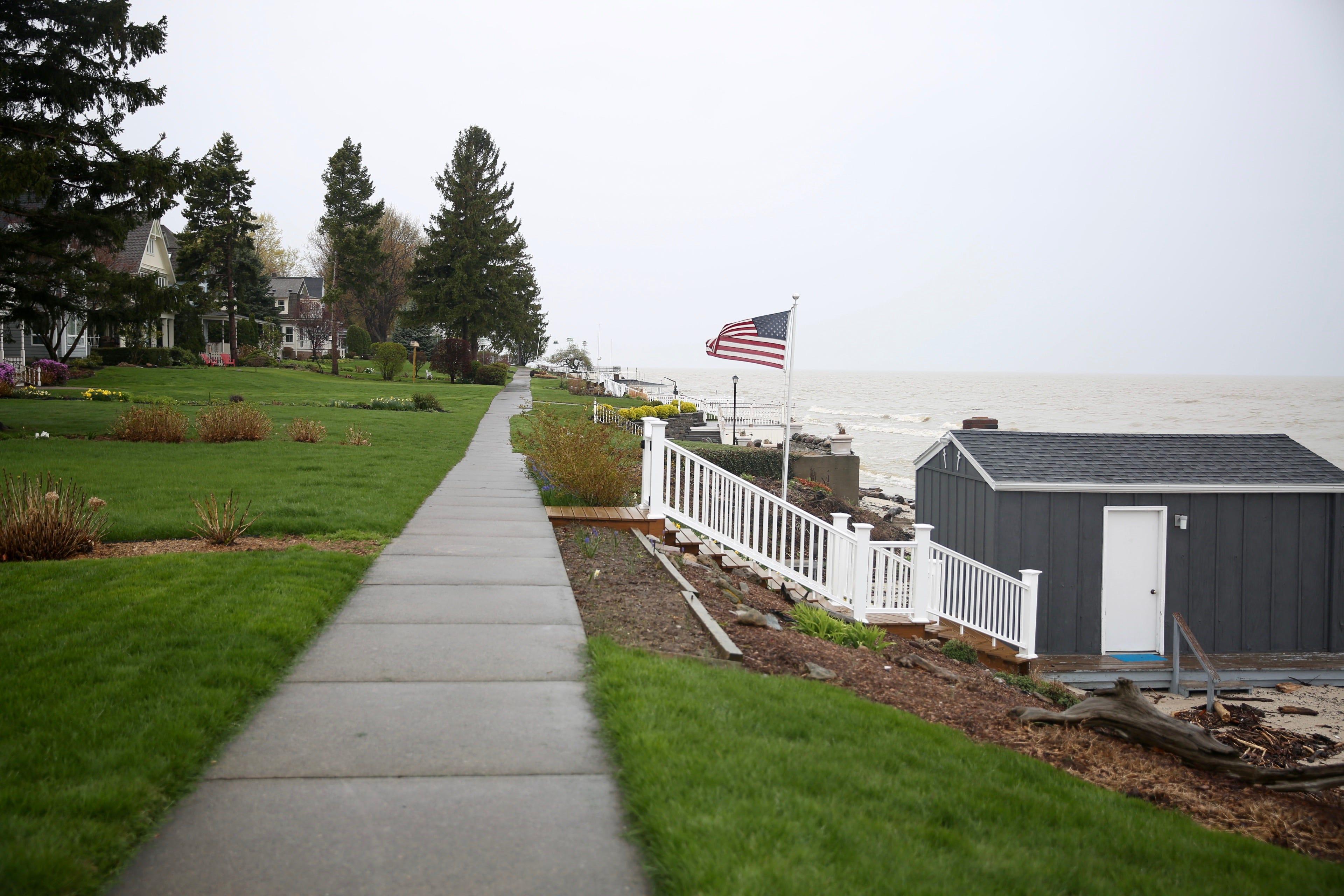 Sidewalk in private yard 45