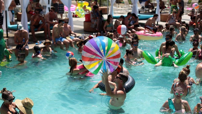 Richard Lui/The Desert Sun Events like Splash House fill hotel rooms in Palm Springs, helping to fuel record transient occupancy tax collections, which topped $62.7 million in the Coachella Valley in the 2014-15 fiscal year, which ended June 30.