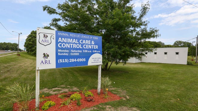 Animal Rescue League animal care and control center on SE 14th Street,  June 8, 2016, in Des Moines, Iowa.DM City Council is responding to a wave of public criticism against Animal Rescue League coming from animal advocates in Des Moines. Part of the problem is the deteriorating, small ARL shelter in Des Moines.