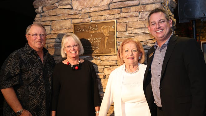 """Pictured here are (L-R) 60th Anniversary Celebration Co-Chairs William """"Toby"""" Tobin and Gale Tobin, Connie LoBue Scarpelli, sister of Victor LoBue  (another founder) and General Manager Ben Dobbs."""