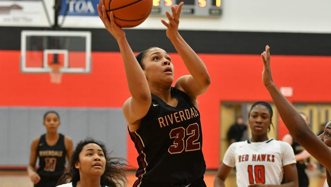 Riverdale senior and Vanderbilt signee Brinae Alexander battled foul trouble and eventually fouled out after scoring 13 in Thursday's 64-50 loss to Archbishop Mitty (Calif.) in the Nike Tournament of Champions in Phoenix.