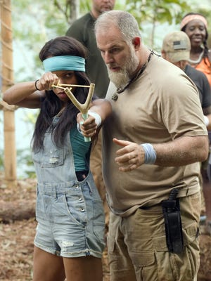"Knoxville native Nakeisha Turk and her survivalist partner John in the second episode of ""Kicking and Screaming."""
