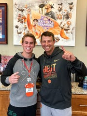 Hamp Greene V and Clemson coach Dabo Swinney