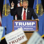 Republican presidential candidate Donald Trump speaks at a rally in Tulsa, Okla., on Wednesday.