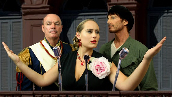 "Kaitlin Ruby, Rob Kenna and Derrick Paul in ""Evita"""